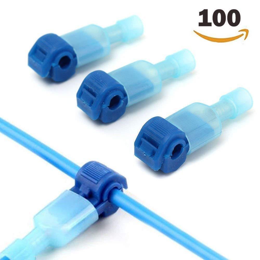 Terminal de fil isol/é rapide et jeu de connecteurs m/âles Bleu T Tap Connecteurs /électriques 50 paires 100PCS //