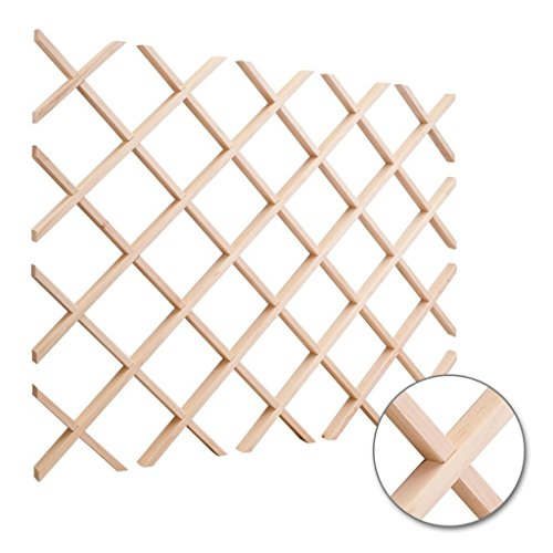 - Hardware Resources WR30-2MP Wine Lattice Rack With Bevel, Maple