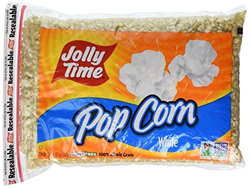 Jolly Time White Popcorn, Poly Bag, 32 oz, 2 pk -
