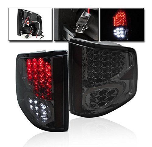 ZMAUTOPARTS S Sonoma/ Hombre LED Tail Light Lamp Smoke (Chevy S10 Truck Tail Lamp)