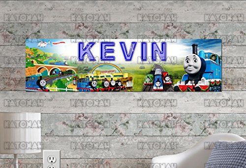(Customized Name Painting Thomas and Friends Poster with Your Name On It Personalized Banner)