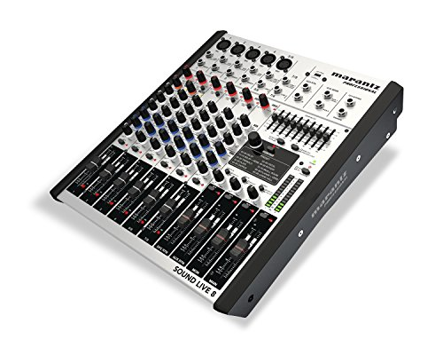 Marantz Preamps - Marantz Professional Sound Live 8 | 8-channel/2-Bus Tabletop Mixer with 5 XLR Inputs + Mic Preamps