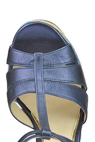 BARCELÓ Compensées Femme Cuir PALOMA MCGLCAT03173E Bleu Chaussures dxw4nYFqU