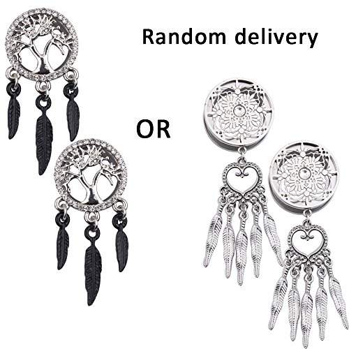 0 gauge plugs dream catcher - 5