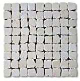 12'x12' Marble Stone Tumbled (Botticino) Pebble Mosaic Wall & Floor Tile (Sample (6'x6'))