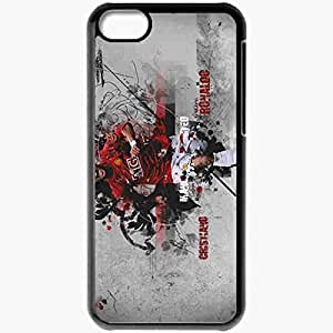 Personalized iPhone 5C Cell phone Case/Cover Skin Cristiano Cristiano Ronaldo Manchester United Football Black