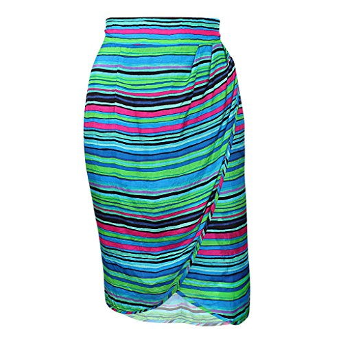Nanette Lepore Womens Senorita Striped Wrap Skirt Green Multi 6