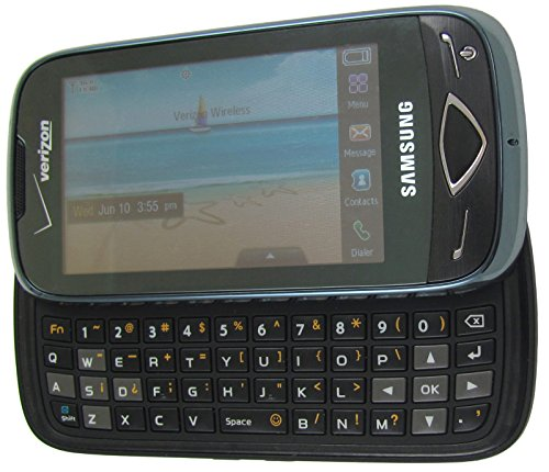 Samsung Reality SCH-U820 Phone QWERTY keyboard, 3-megapixel camera, Bluetooth for (Verizon Slider Phones)