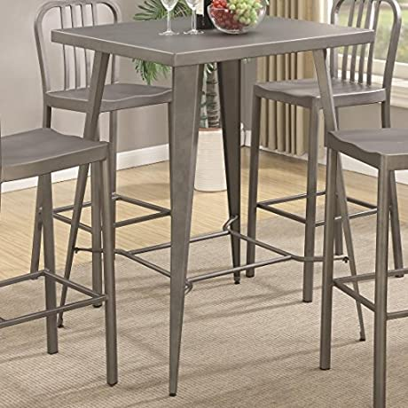 Coaster Square Counter Height Dining Table In Gunmetal
