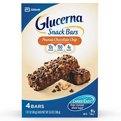 Glucerna Crispy Delights Nutrition Bars, Peanut Chocolate Chip, 4 Count 1.41 oz