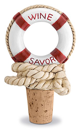 Epic Products Nautical Wine Savor Bottle Stopper, 3.75-Inch
