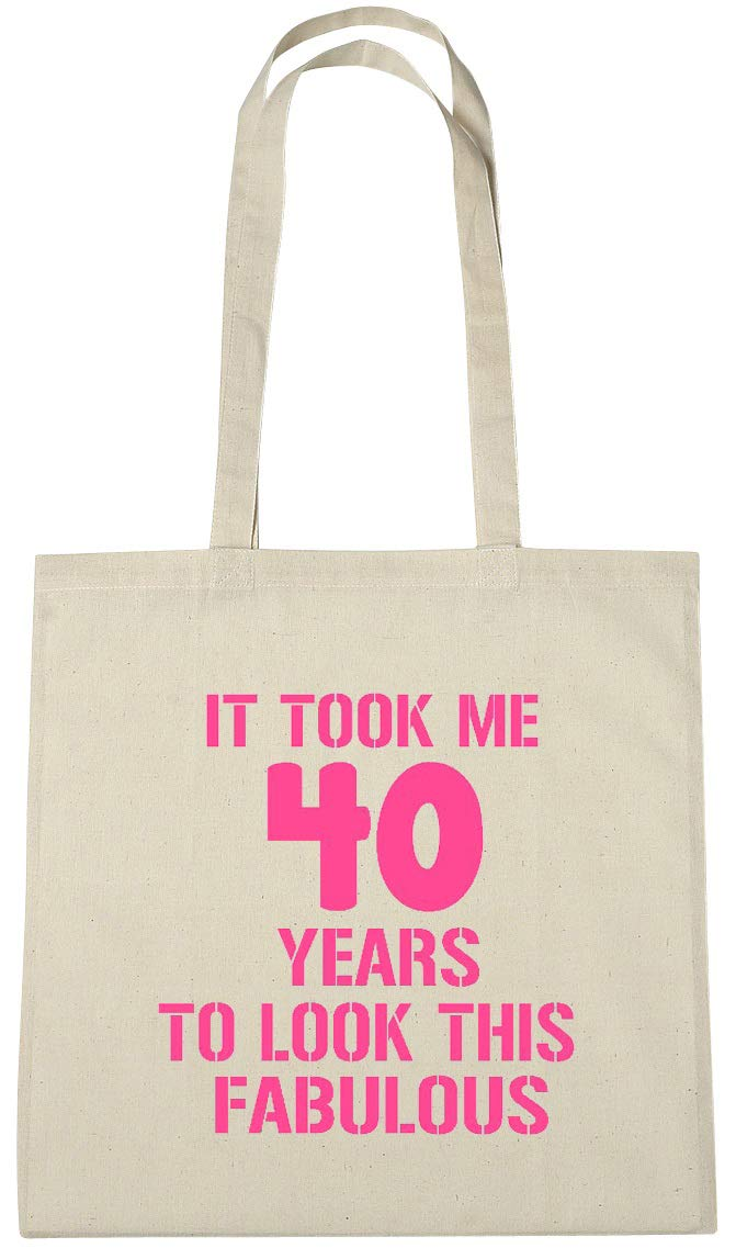 Birthday It Took 40 Years To Look This Good Shopping Tote Bag Ladies Gift