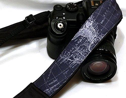 Map Camera Strap. DSLR Camera Strap. Padded Camera Strap. Camera Accessories. Fashion Camera Strap. Gift Photographer; 216