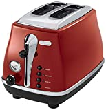 Delonghi icona Collection Pop-up toaster CTO2003J-R (Red)【Japan Domestic genuine products】