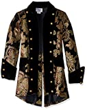 Charades Men's Royal Pirate Captain Jacket, Gold/Black, Large