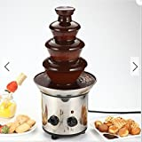 LU 4 Tiers Mini Stainless Steel Chocolate Fondue Fountain Waterfall Melting Machine Kitchen Appliance review