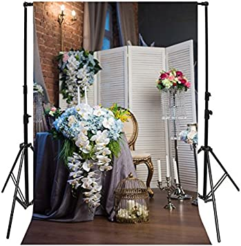 5x7ft Vintage Room Flowers Photography Background Computer-Printed Vinyl Backdrops