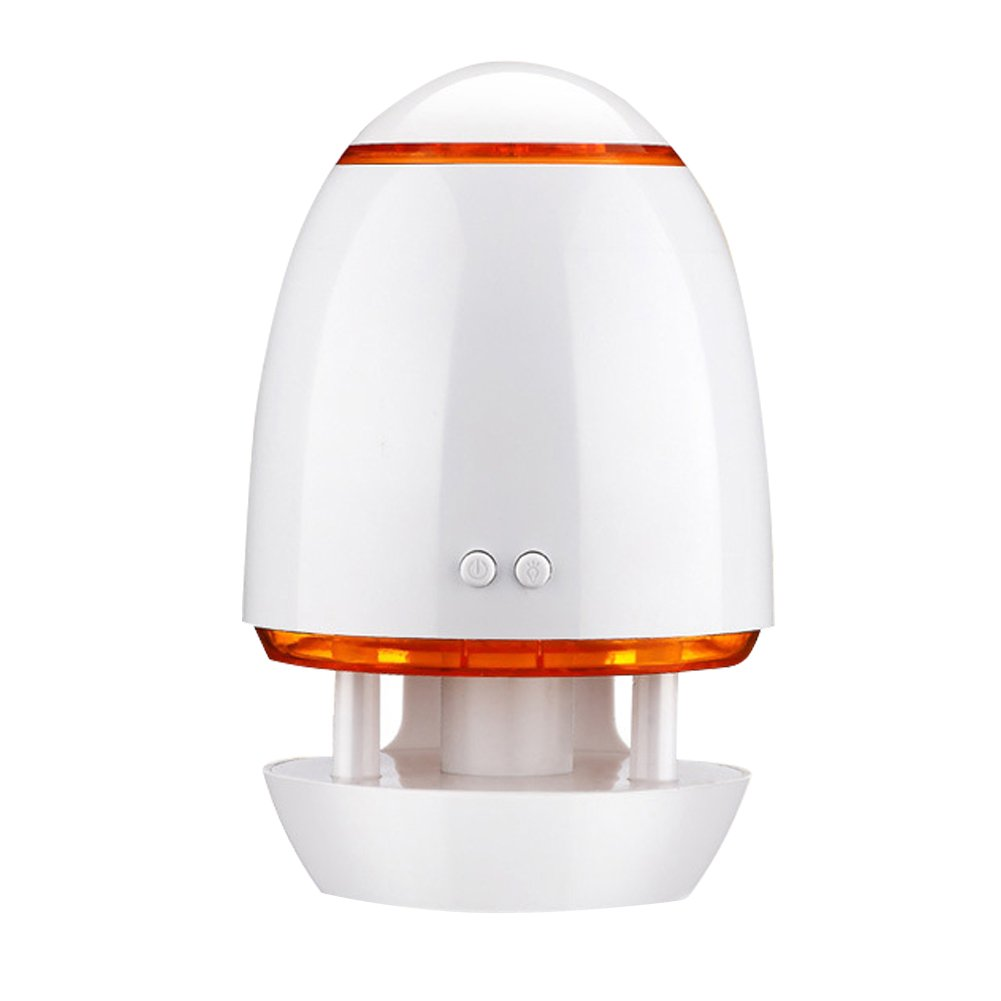 KINGZHUO USB Essential Oil Diffuser Air Refresher Ultrasonic Aromatherapy Diffusers with 7 Colorful LED lights For Office Car Home (Orange)