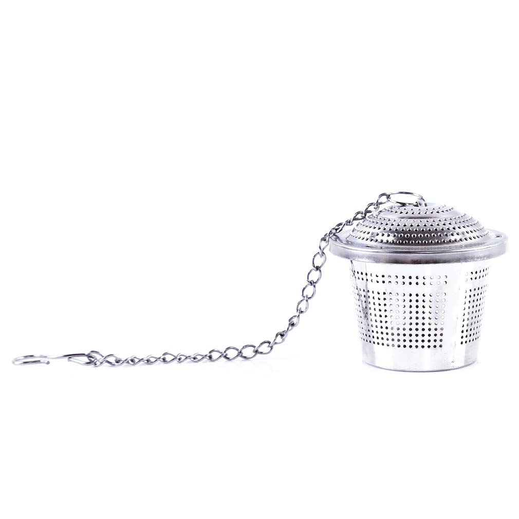 L_shop Gewürzkugel Gewürzkugel Teesieb Teesieb Gewürzkugel Suppe Aroma Gewürzbox Filterkugel, Edelstahl, Medium-2082 [6,5 cm]