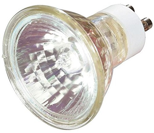 12 Pack Satco S3502 120-Volt 50 Watt Halogen MR16 Flood Bulb with 36 Degree Beam and GU10 Base