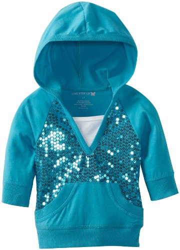 One Step Up Girls 2-6X Hooded Sequin