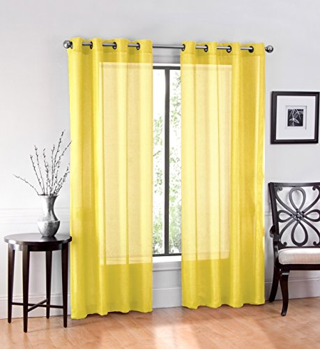 Ruthy's Textile 2 Piece Window Sheer Curtains Grommet Panels 54