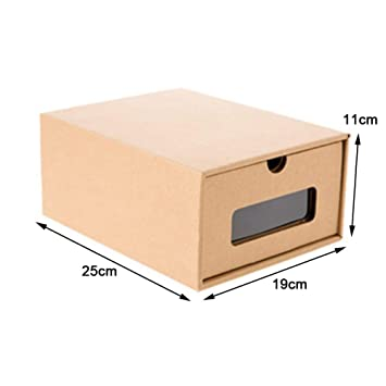 Conemi 5pcs Zapatos Caja Cartón Zapatos Caja - Caja Multiusos Almacenamiento Caja de Zapatos estantería Soporte Organizador Storage cartón de Papel de ...
