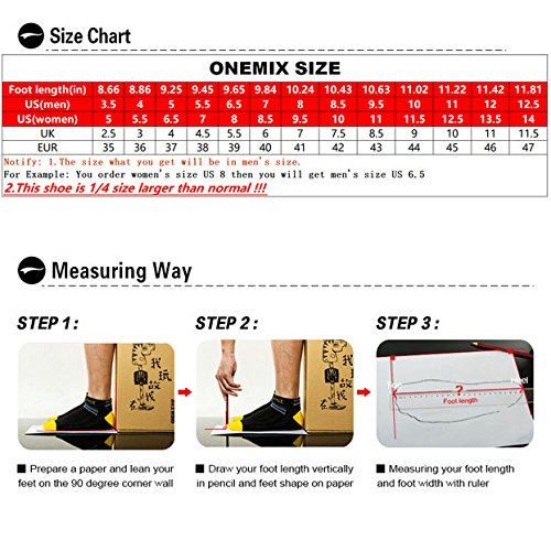 ONEMIX Air Cushion Sports Running Casual Walking Sneakers Shoes for Men and Women B079L1B1MX 6.5B(M) US 9.64 inch =EUR39|Darksilver