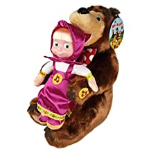 """Masha and the Bear Set Russian Talking Toy Popular Cartoon Character From """"Masha and the Bear"""" Cartoon"""