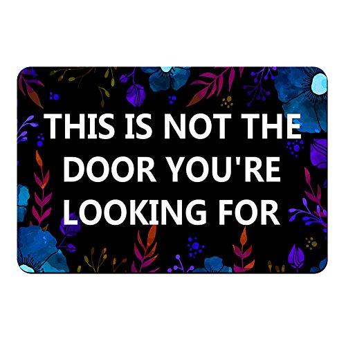 """This is Not the Door You are Looking For-Floor Mat Rug By ZBLX Indoor/Outdoor/Front Door/ Mats Rubber Non Slip (30""""x18"""",45cmx75cm)"""