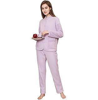 0f8ec7ec5c Schlafanzug Damen Herbst Winter Langarm Warm Verdicken Young Fashion Pyjama-Set  Bequem Elegante Schöne Homewear