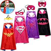 Spess Superhero Capes Kids Birthday Party Favor Idea Dress Costume Set
