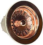 Jaclo 2807-PCU Adjustable Lutz Sink Strainer for Kitchen Sinks, Polished Copper, Polished Copper