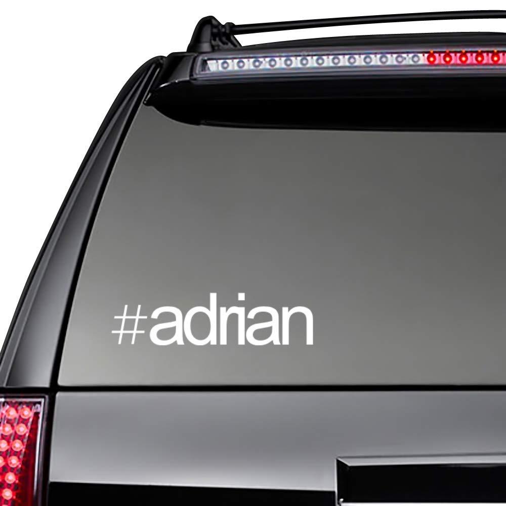 Nombres Masculino Pack de Calcomanias x 3 Idakoos Hashtag Adrian Bold Text