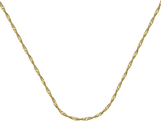 Brilliant Bijou Stainless Steel Polished Yellow IP-Plated Anklet