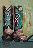 Cheap Toland Home Garden Cowgirl Boots 28 x 40 Inch Decorative Southwest Country Boot Pink Ribbon House Flag