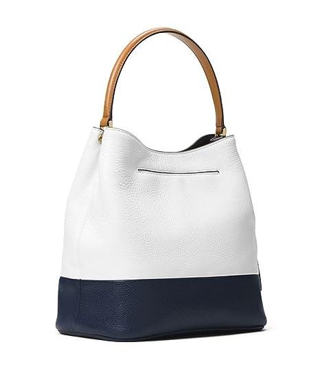 bdf512d614 ... Amazon.com MICHAEL Michael Kors Kip Large Bucket Bag Optic WhiteAdmiral  Bags Watches ...