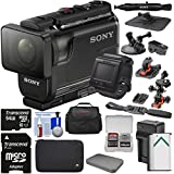 Sony Action Cam HDR-AS50R Wi-Fi HD Video Camera Camcorder & Live View Remote 64GB Card + Battery & Charger + Cases + Helmet, Suction Cup & Dashboard Mounts + Kit