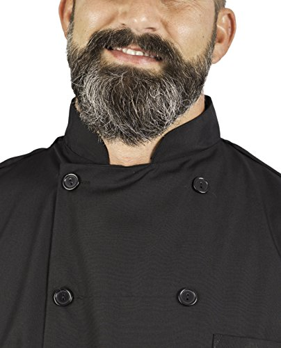 KNG Black Lightweight Long Sleeve Chef Coat by KNG (Image #3)