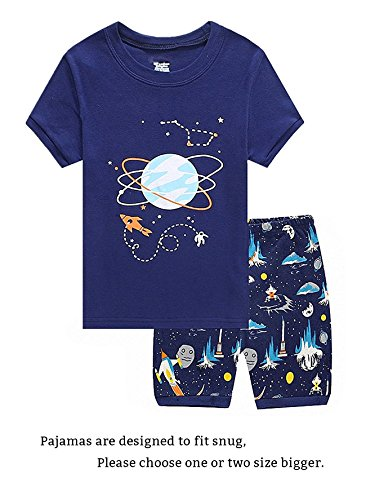 Space Little Boys Shorts Set Pajamas 100% Cotton Clothes Toddler Size 3T by Family Feeling