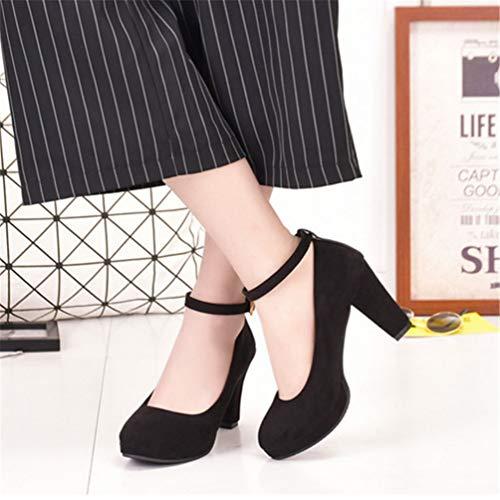 La Talon Noir Hauts Confortables Parti Talons Chaussures Automne Pointu Fine Femmes Bout Pompes Mariée Chaussures Sexy Pompes De Uz77Bqwx