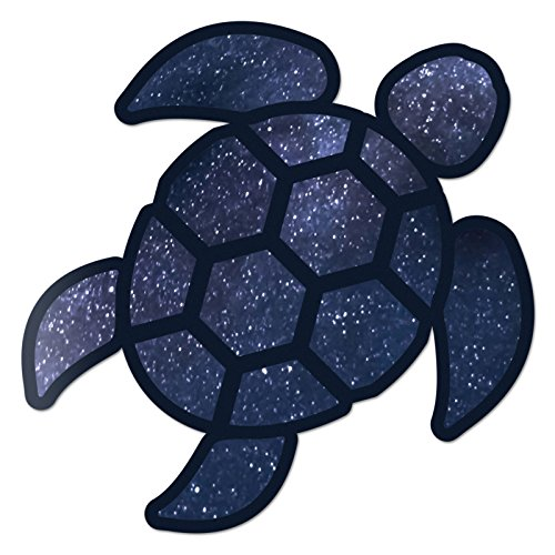 (Red Hound Auto Sea Turtle Space Sticker Decal Wall Tumbler Cup Window Car Truck Laptop)