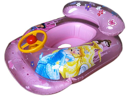 Baby Kid Child Swim Ring With Wheel Horn Inflatable Float Seat Boat Pool Fun Princess 78x54cm/30.73