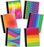 New Generation - Rainbow - Composition Book, 6 PACK, WIDE Ruled, 80 Sheets / 160 Pages, 7.5 x 9.75 Inches, UV Glossy Laminated Hard covers (6 PACK COMPOSITION NOTEBOOK WIDE RULED)