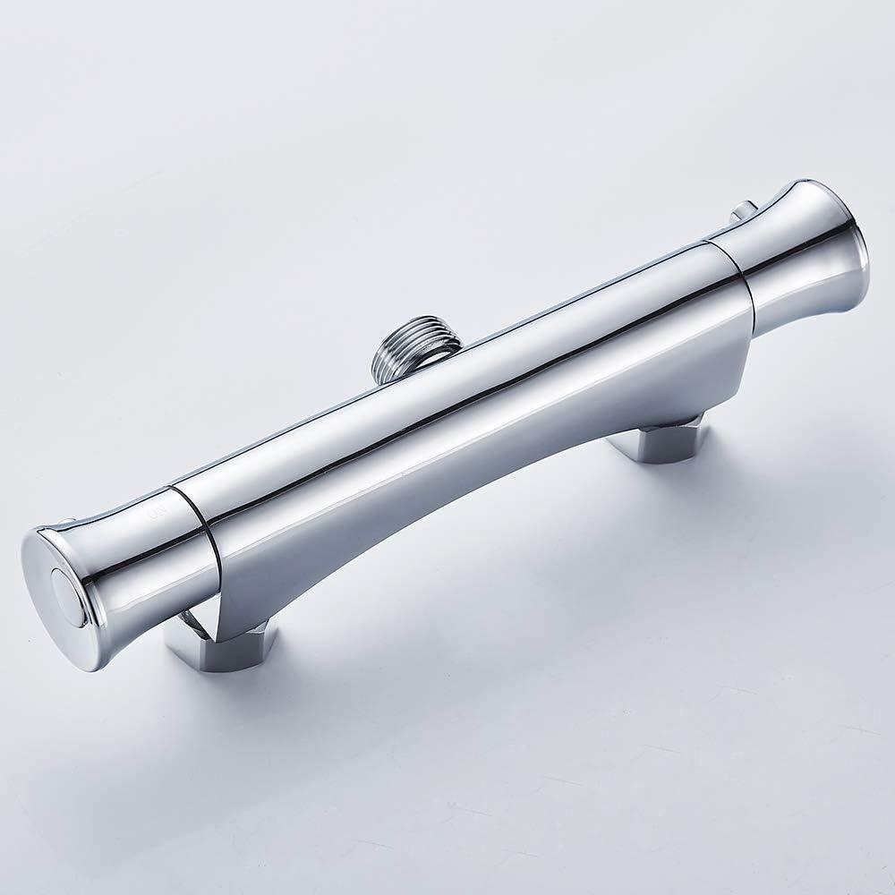 Surfmall Thermostat Duscharmatur Mischbatterie Brausethermostat Thermostatarmatur mit 38 /°C Sicherheitstaste G3//4 Oben Auslauf 3//4 Auslauf Duschthermostat Temperatureinstellung