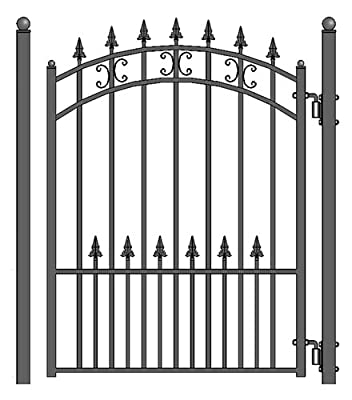 ALEKO St. Petersburg Style Iron Wrought Pedestrian Steel Gate 5'