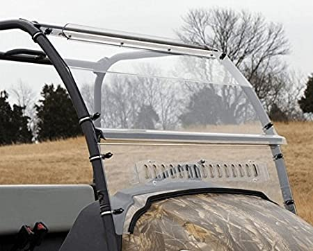 Over Armour Kubota RTV 400//500 Two Piece Aero-Vent Front Windshield with Hardcoat