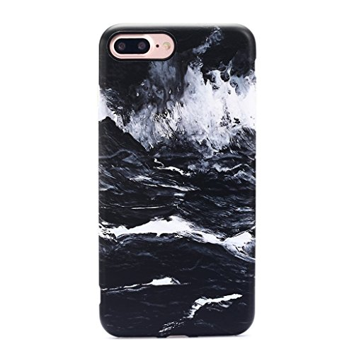 GOLINK iPhone 7 Plus Case/iPhone 8 Plus Oil Painting Case, IMD Printing Slim-Fit Anti-Scratch Shock Proof Anti-Finger Print Flexible TPU Gel Case for iPhone 7/8 Plus - Dark Sea