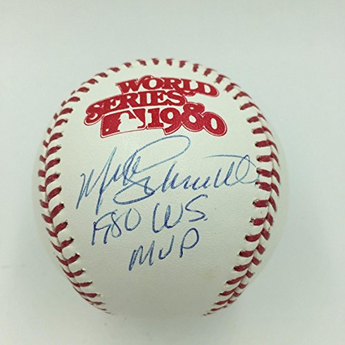 1980 World Series Mvp (Nice Mike Schmidt 1980 WS MVP Signed Inscribed World Series Baseball Steiner COA)