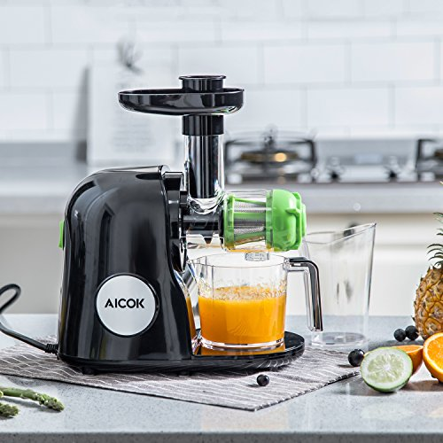 Aicok-Slow-Masticating-Juicer-Extractor-Cold-Press-Juicer-Quiet-Motor-with-Juice-Jug-and-Brush-High-Nutrient-Fruit-and-Vegetable-Juice-Black